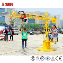 Amusement Metal truck rides, tower crane funfair games for kids and adults
