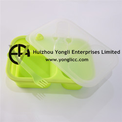 Collapsilble Bento Boxes/Lunch Boxes Silicone food grade folding container