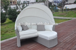 outdoor furniture sofa bed round bed & luxury chaise lounge sunbed with Canopy