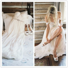 Off The Shoulder Wedding Dresses Made To Order China Bride Dress Beach Chiffon Wedding Gowns 2015