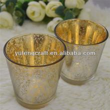 Venta al por mayor de candelabros pieza central, el mercurio de la boda candelabro de oro,