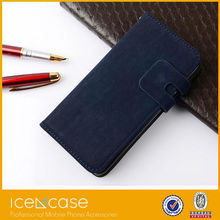 high quality holder feeling Leather cell phone slim mobile phone PU flip leather case for iphone 6