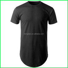Wholesale custom fashion Double Sided Shirts and Fitness Zip Bottom Longline T Shirt Men or Zip T-shirt with low prices