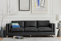 Top Grain Italy Modern Leather sofa, reasonable price leather sofa on sale, lifestyle sofa design