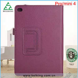 New hot sale Stand leather case for iPad mini 4 / Slim folio leather case for iPad mini 2 3 4