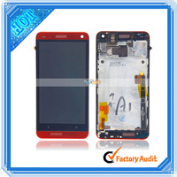 801e International Edition LCD Touch Screen Assembly For HTC One / M7 With Frame Red (82017900)