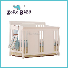 ZOROBABY new design with high quality solid wooden new born baby crib