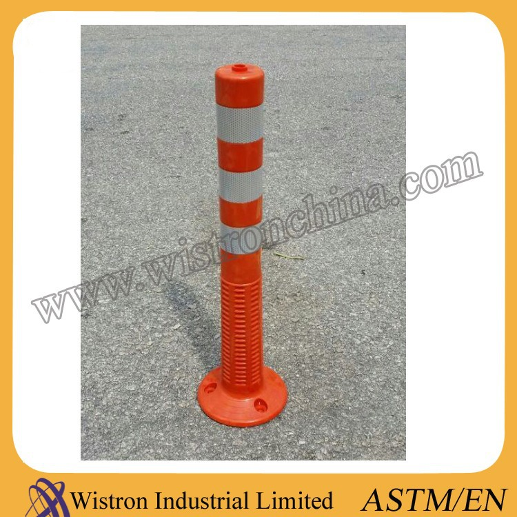 high reflective 100% PU flexible traffic safety warning delineator post