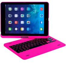 Pink bluetooth Keyboard with protect cover