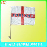high quality election car flag with plastic pole
