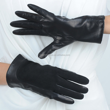 Genuine fashion ladies wool lined leather gloves