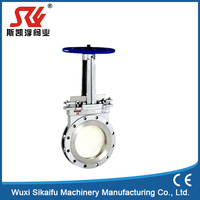 Manual 4inch 304 SS Stainless Steel Knife Gate Valve manufacture