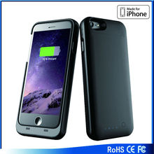 New arrival Qi charger for iPhone 6 battery case, MFI battery case for iphone6 Backup Battery Case