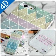 trilateral design for iphone 5s 5 4D Phone Case cover