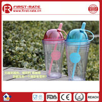 2015 newest 24oz plastic coffee and juice cup with straw