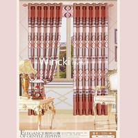 new design colorful 100% polyester blackout print curtain
