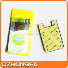 2015 promotional silicone phone case card holder for mobile phone