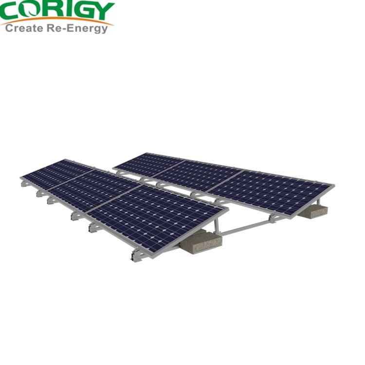 giá đỡ bảng diều khiển năng lượng mặt trời mái Phẳng quang điện