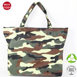Cheap Waterproof Tote Bag Zipper Shopping Bag