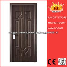Barato MDF Puerta interior de PVC Laminación SC-P021
