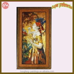 Super Preferential Lady Figure Painting with Frame