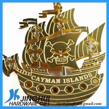 3D Engraving Bronze Small Boat Metal art