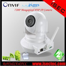 2015 Best hot-sale Home Security Robot Wireless video camera, 720P WIFI P2P IP camera