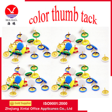 2015 Hot Selling Mix Color Metal Nickel- Plated Thumb Tack