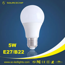3years warranty high lux 5w dimmable led bulb light