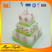 Popular Cake Shaped Candle for Party Decoration
