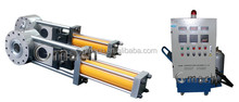 Plastic corrugated pipe extrusion machine used plate type hydraulic melt filter