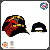 customized 3D embroidery and flat embroidery matching baseball cap