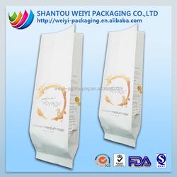 printed sandwich bags/plastic printed bags/bottom gusset plastic bag for coffee