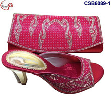 Elegant high heel women shoes match bag for wedding/party SCB6089-1