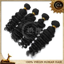 No tangle and no shedding hot selling virgin hair weft European hair unprocessed hair weave deep wave