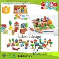 EN71 continued selling wood bead for children OEM/ODM educational wooden beads kids