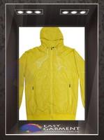 OEM Design Hot sales outdoor waterproof zip Logo Yellow printing Men Winter Jacket