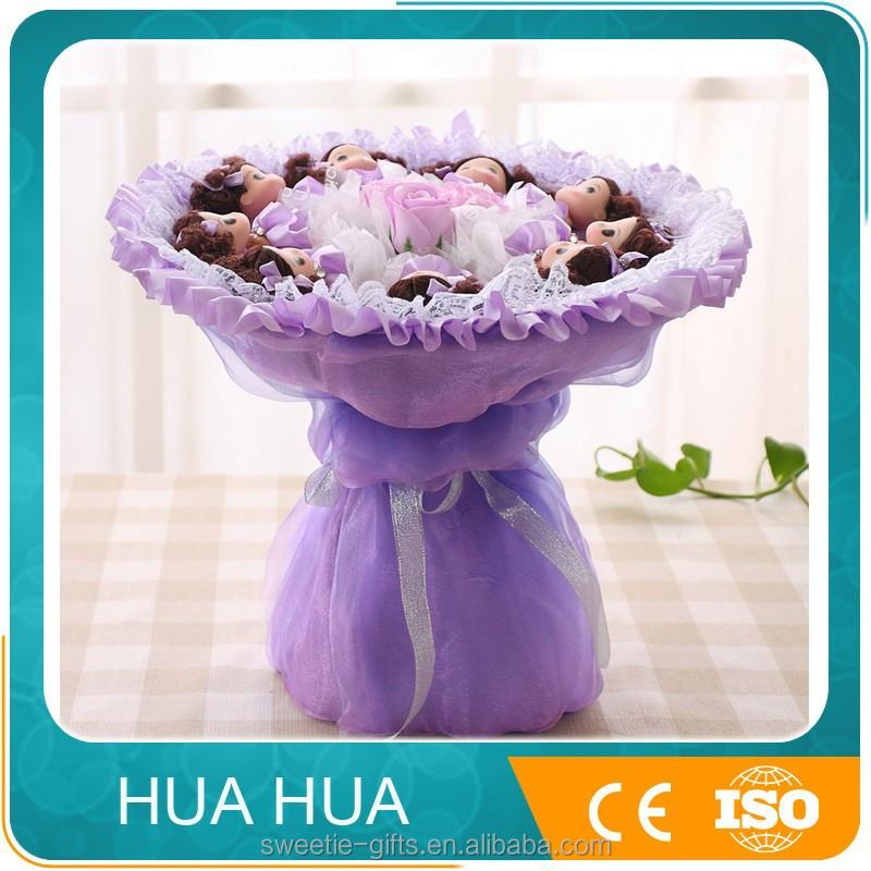 Cheap Artificial Flower Wedding Bouquet With Mini Doll Buy Cheap