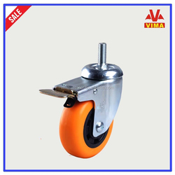 VIMA 100 PP wheels,high quality double ball bearing metal caster wheel,swivel caster with brake