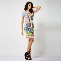 Fashion design embriodered lady dress