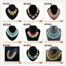 2015 newest design wholesale colorful chunky fashion necklace jewelry