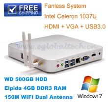China wholesale market 2GB RAM+8GB SSD+300M wifi,fanless mini pc server with celeron c1037u,12v mini pc x86