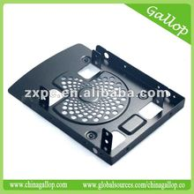 "Aluminum 2.5"" HDD/SSD mounting bracket with fan design"