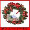 Red ball Artificial Christmas Wreath Light