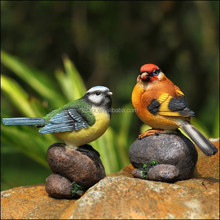 custom made plastic bird with stone , 7'' cartoon bird resin toys, 7''custom made bird Resin toys with stone