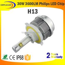Guangzhou Factory 3hi lo beam led headlight 30watt H13 headlight kit 3600lumen led headlight