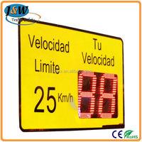Car Speed LED Solar Powered Radar Traffic Detector / LED Radar Speed Sign