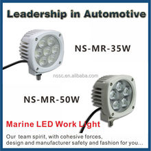 Super bright 70w spot 9v-32v auto led white work light for fishing boat yatch