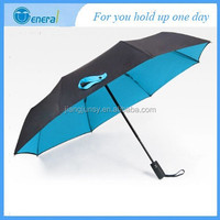Retail good quality double layer bright color auto open and close sun 3fold umbrella