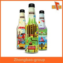 Heat sensitive water proof customizable shrinkable environmentally friendly attractive wine bottle label with your logo